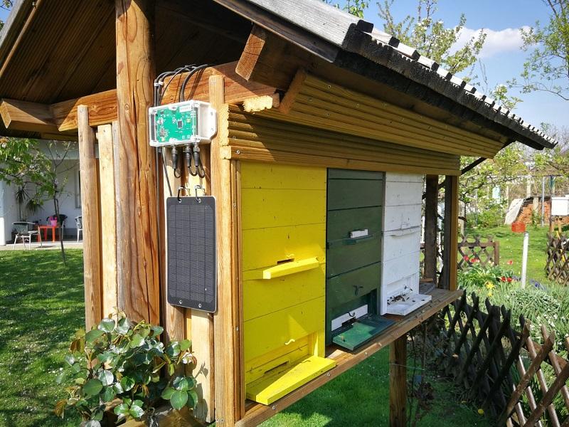 Ważenie ula za pomocą wagi pszczele